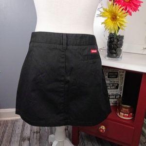 Dickies Black Mini Skirt Juniors 15